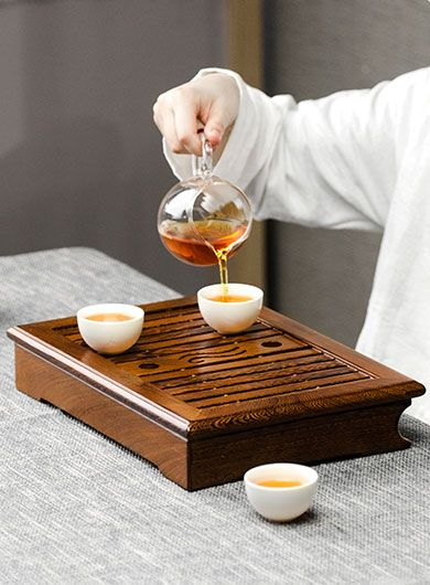 Bateau à thé en palissandre