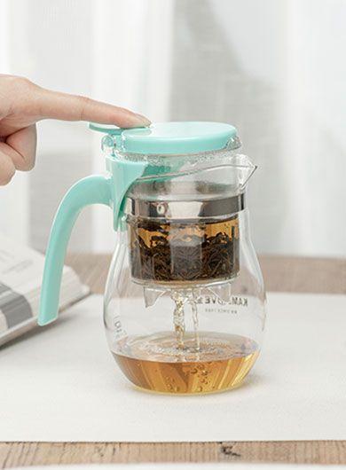 Théière en verre avec infuseur 650 ml