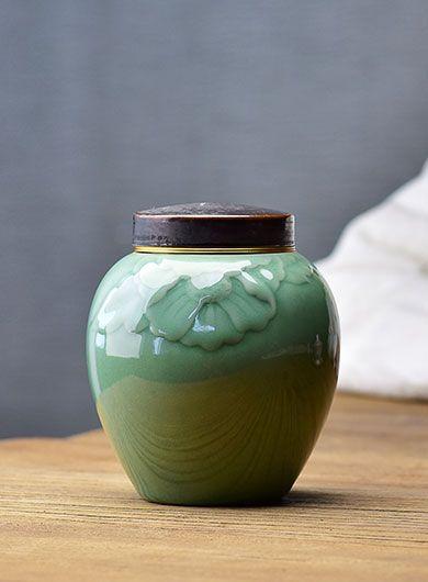 Boîte à thé en céramique céladon