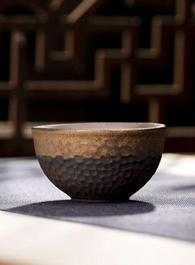 Tasse à thé en poterie grossière