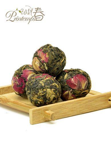 Dian Hong à la rose : billes de thé noir