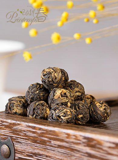 Dragon rouge : perles de thé noir