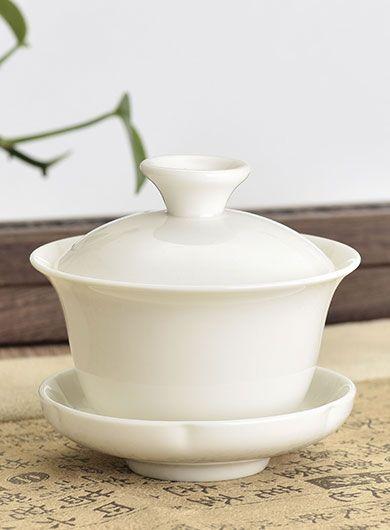 Gaiwan en porcelaine Blanc de Chine