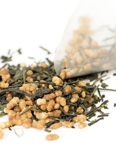 Infusette de thé vert Genmaicha : thé en sachet