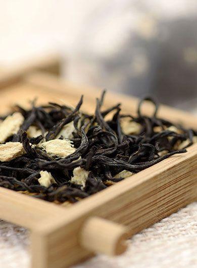 Infusette de thé noir au gingembre : thé en sachet