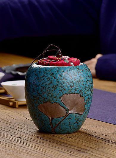 Boîte à thé Ginkgo