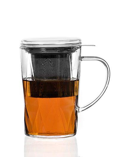 Grand mug-théière en verre