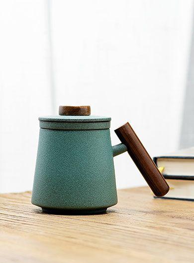 Mug à thé en céramique pierre bleue