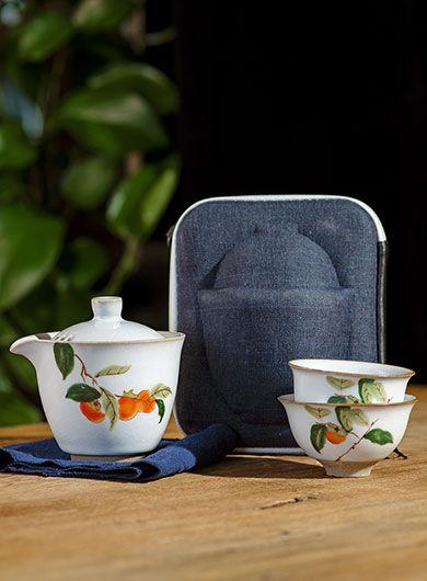 Service à thé de voyage Ru Yao Kuai Ke Bei