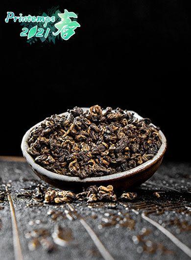 Dian Hong à l'escargot d'or : thé noir