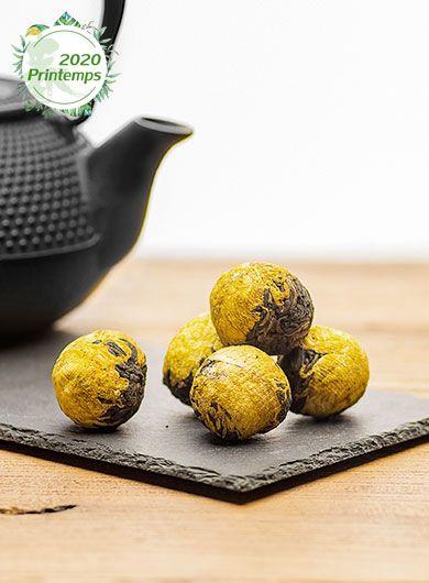 Dian Hong Marguerite des savanes : perles de thé noir