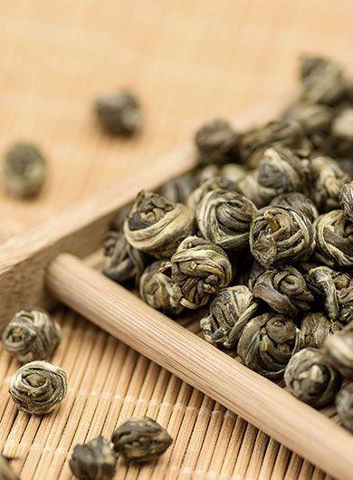 Perles du Dragon Long Zhu: thé vert parfumé
