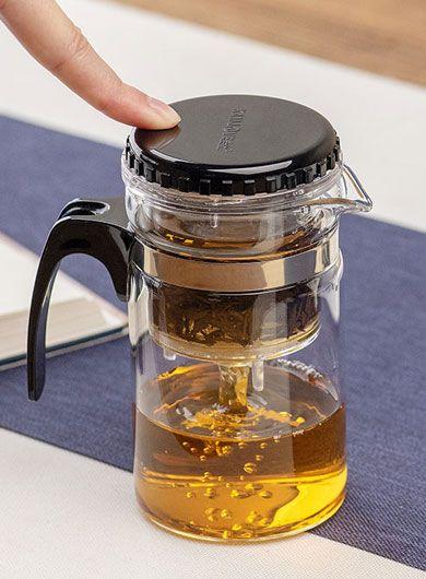 Théière en verre avec infuseur 200 ml