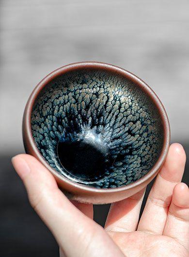 Mini bols GongFu Jianyang Jianzhan - Tache d'huile