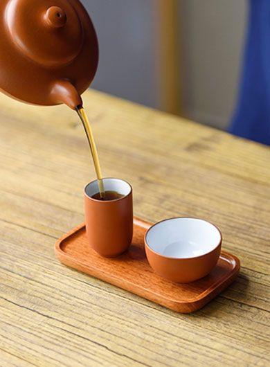 Plateau à dégustation : tasse à sentir et tasse à goûter