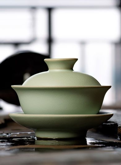 Gaiwan traditionnel en porcelaine Ru Yao