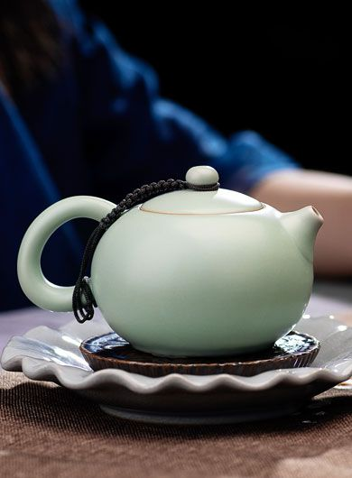 Théière en porcelaine Ru Yao -Xishi