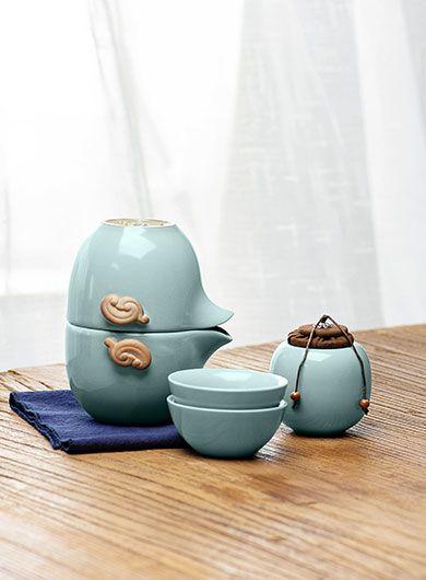 Service à thé de voyage Ru Yao Kuai Ke Bei 3
