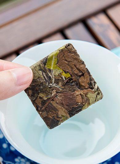 Mini compression de thé blanc Shou Mei : 100g