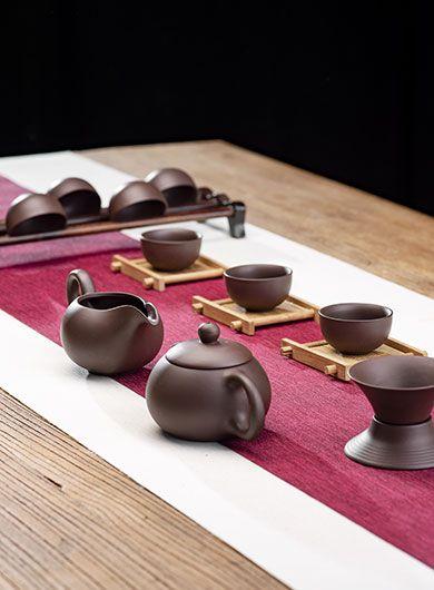 Service à thé YiXing ChenManSheng, complet, 11 pièces (Zi Sha)