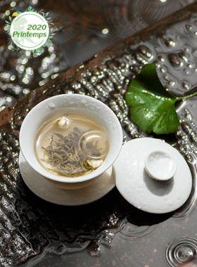 Flocons de jasmin PiaoXue : thé vert parfumé