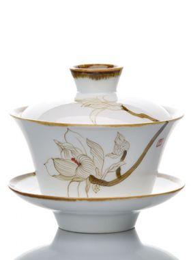 Gaiwan Magnolia en porcelaine Gao Bai Ci