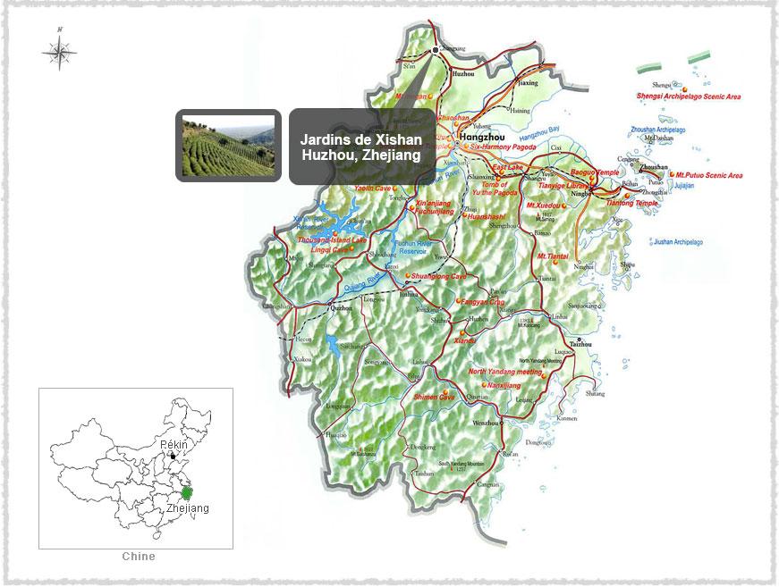 Carte du Zhengjiang