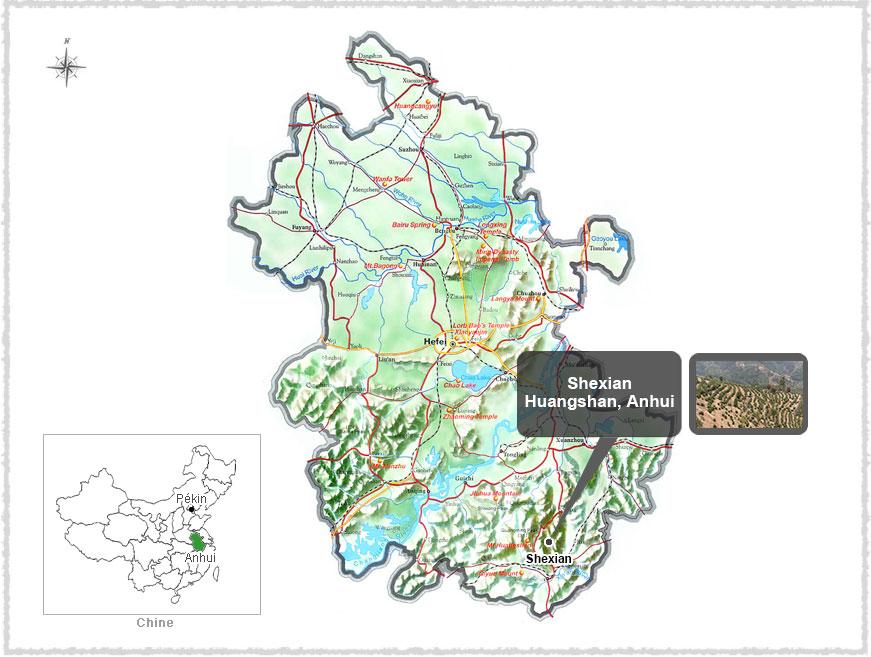 Carte du Anhui