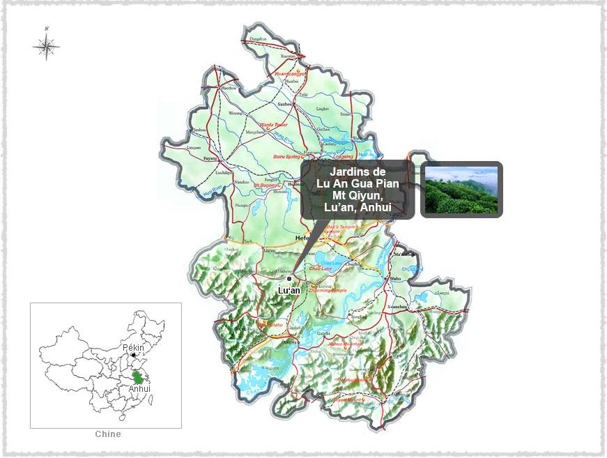 Carte de l'Anhui