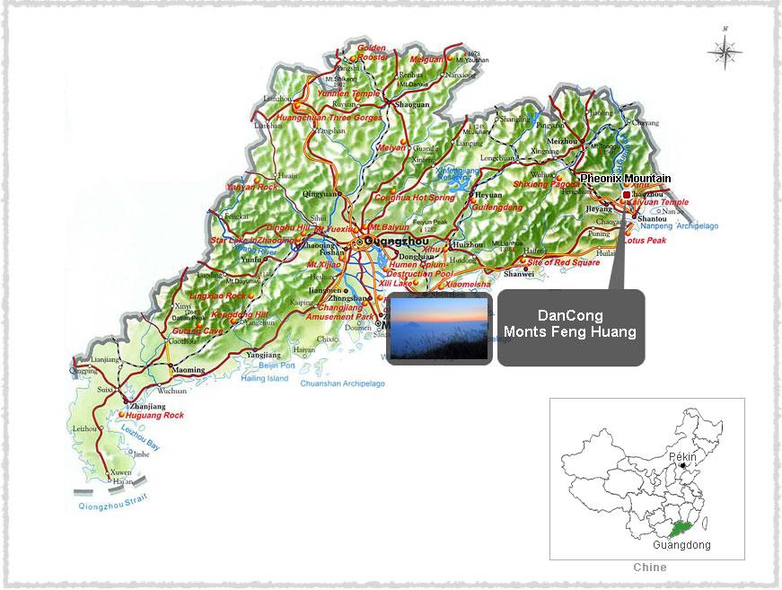 Carte du Guangdong