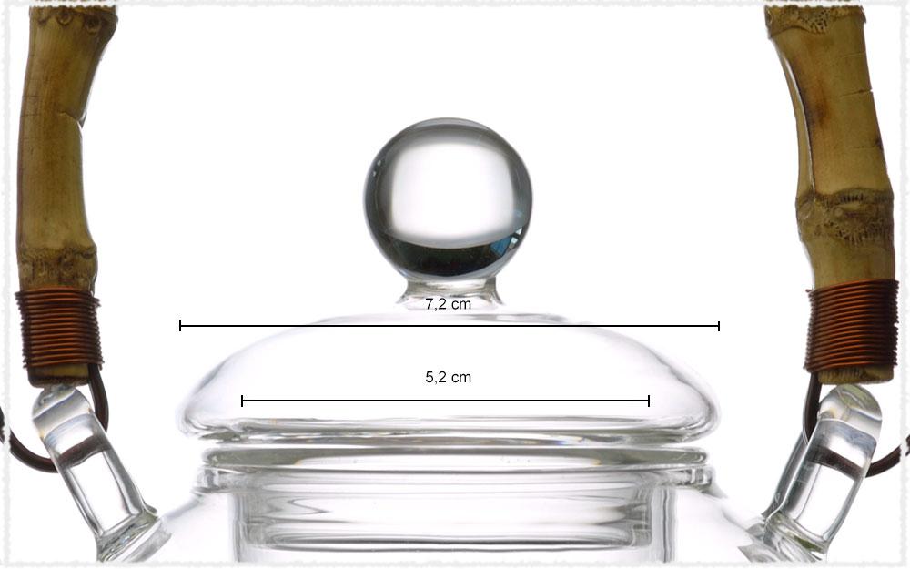Dimension Couvercle théière verre