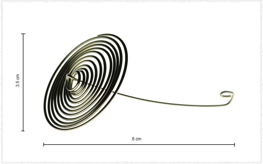 Dimension Filtre « ressort » inox pour théières