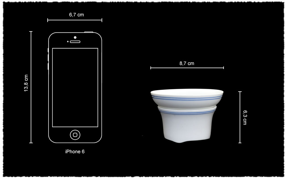 Dimension Filtre Porcelaine Gongfucha