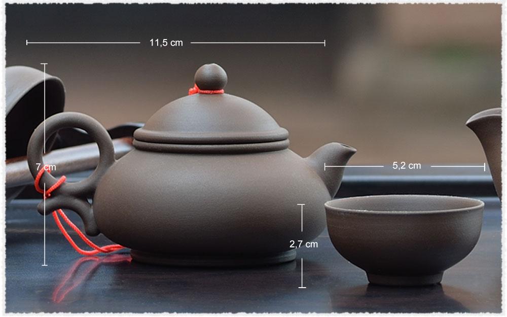 Dimension Service à thé YiXing ChenManSheng