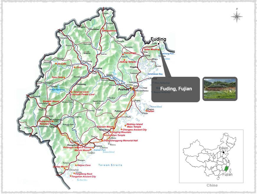 Carte du Fujian