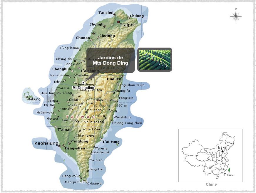 Carte du Taiwan