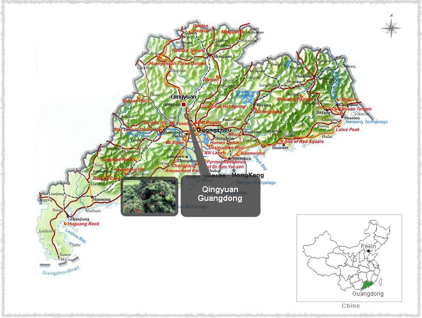 Carte du Guangzhou