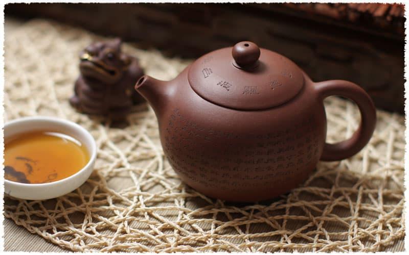 Théière Yixing Sutra du cœur XiShi