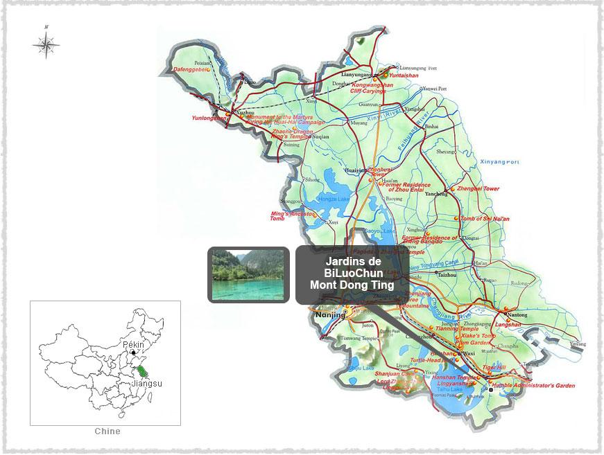 Carte du Jiangsu