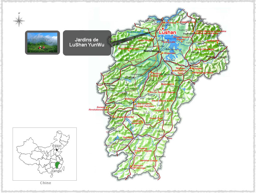 Carte du Jiangxi