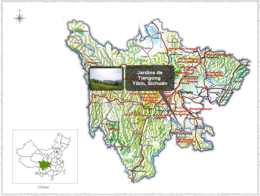 Carte du Yibin