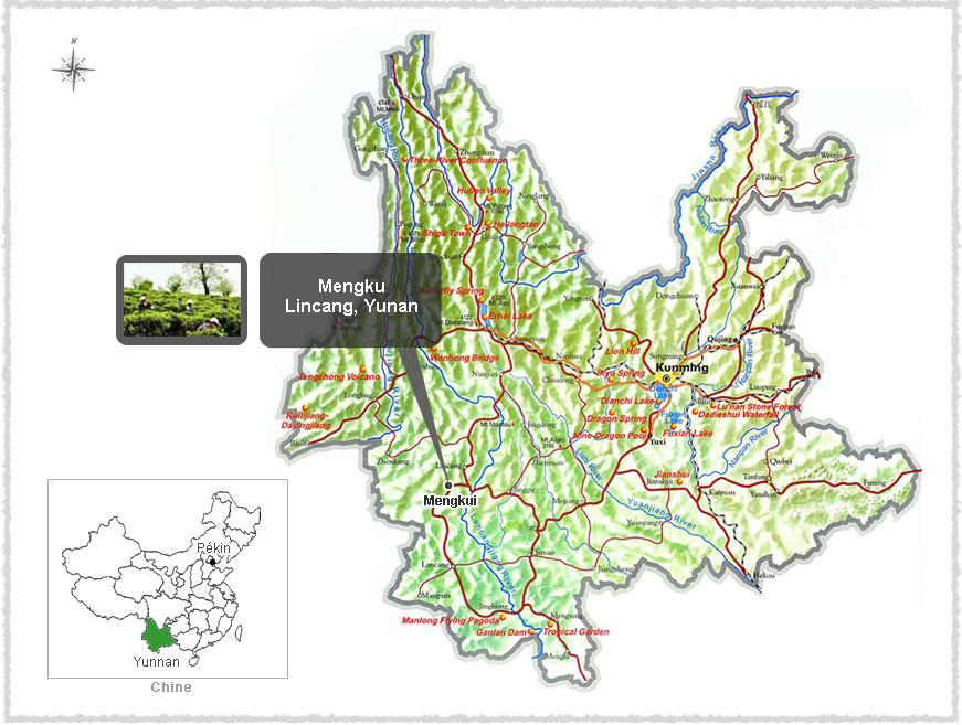 Carte du Yunnan