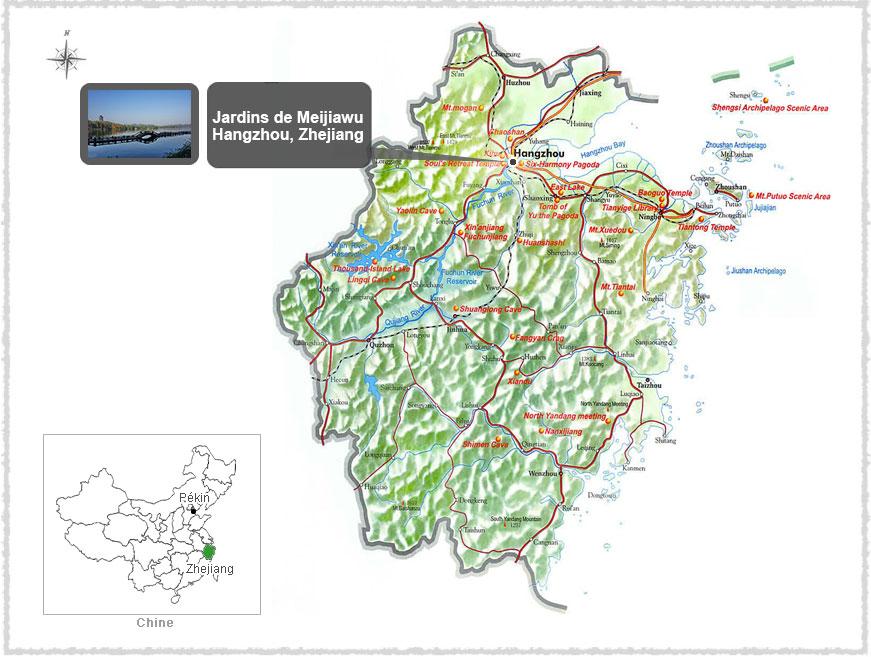 Carte du Zhejiang